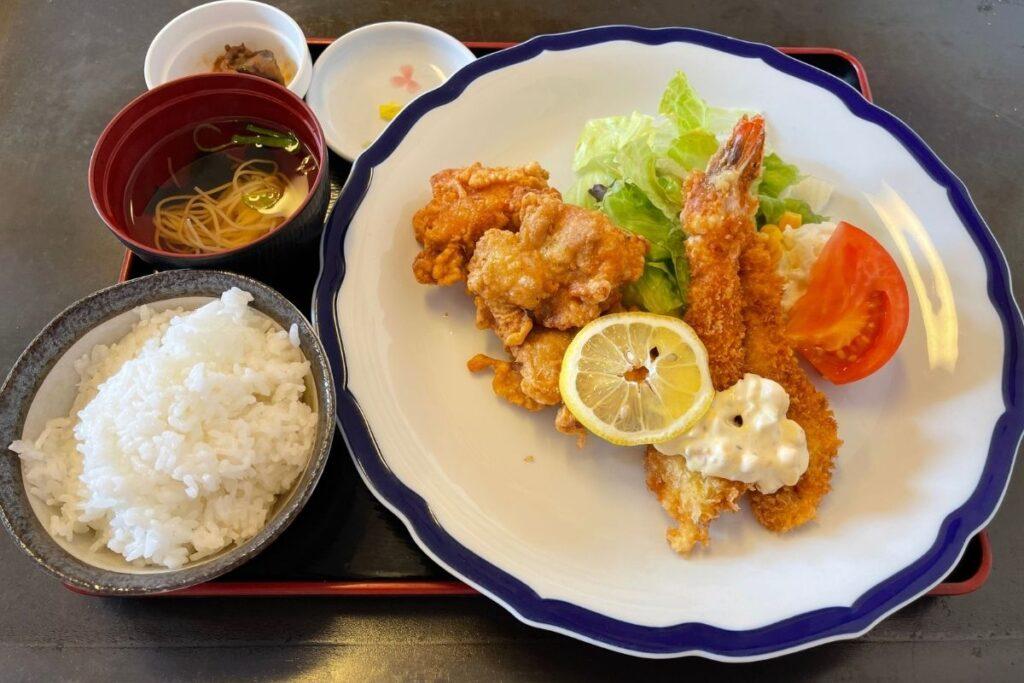 海老フライ&唐揚げ定食