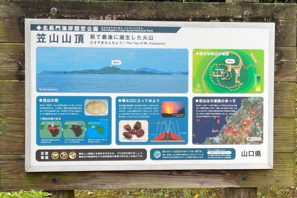 笠山 看板1