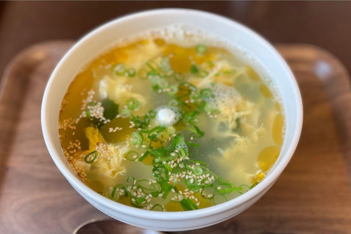 ただいま わか玉スープ(400円)