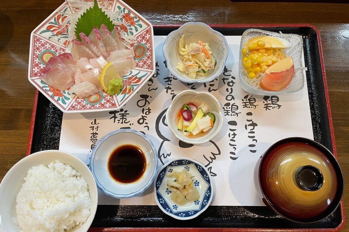 刺身定食(1580円)
